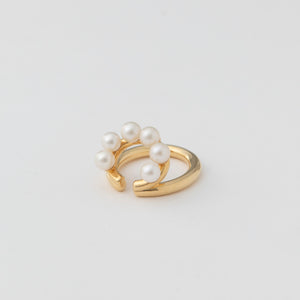 pearl double line ear cuff(パールダブルラインイヤーカフ)[made to order]
