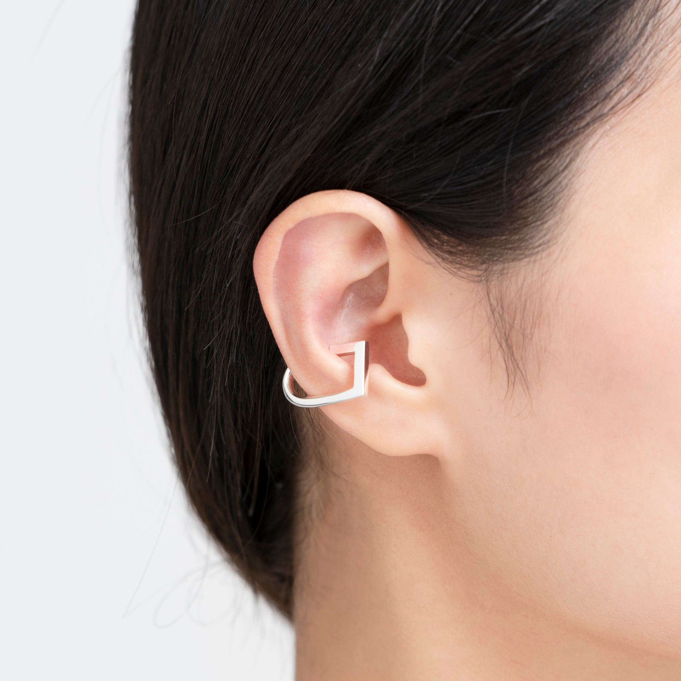 silver arched ear cuff[made to order]