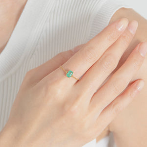 emerald chain ring[made to order](エメラルド チェーンリング)