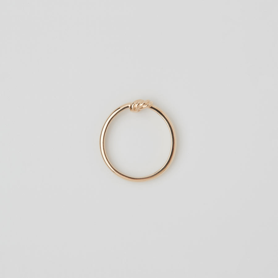 10k Thin Tied Ring[made to order]