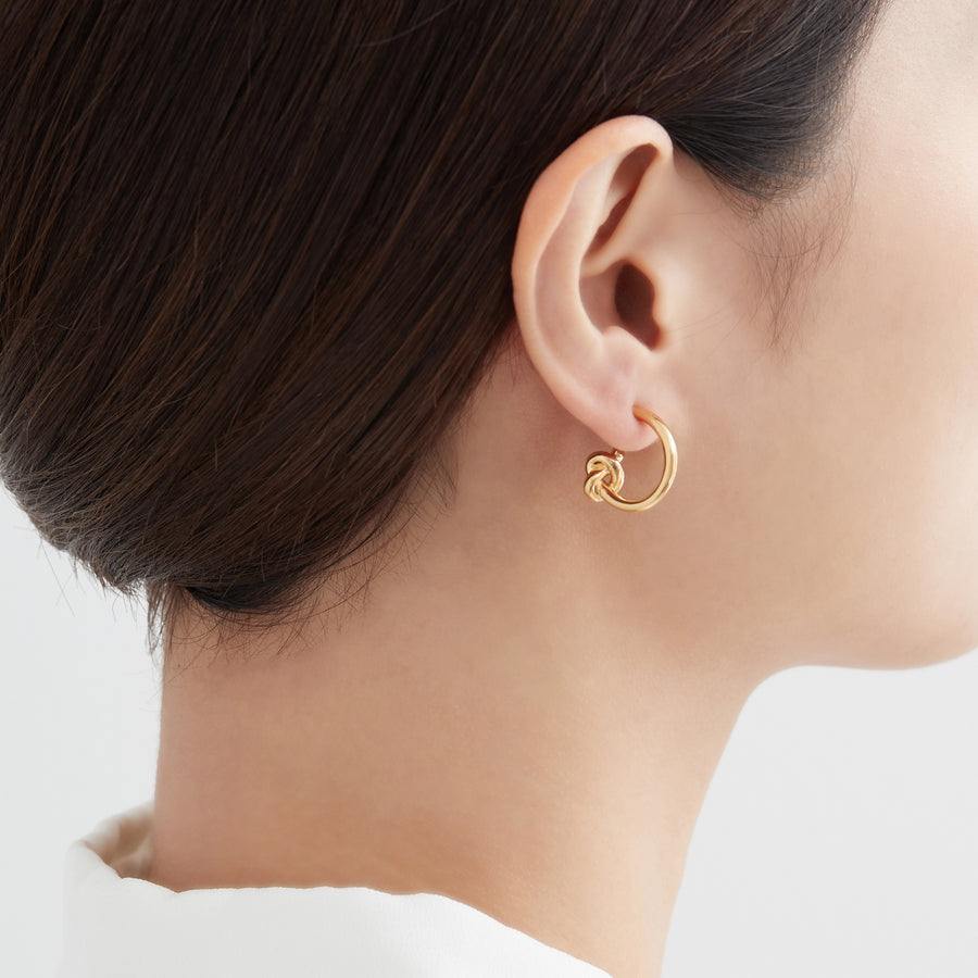 Tied Gold Earrings