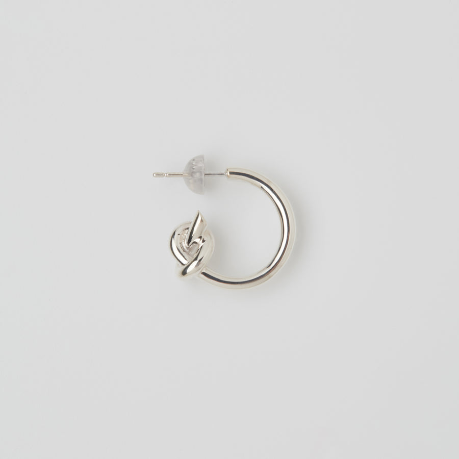 Tied Silver Earrings