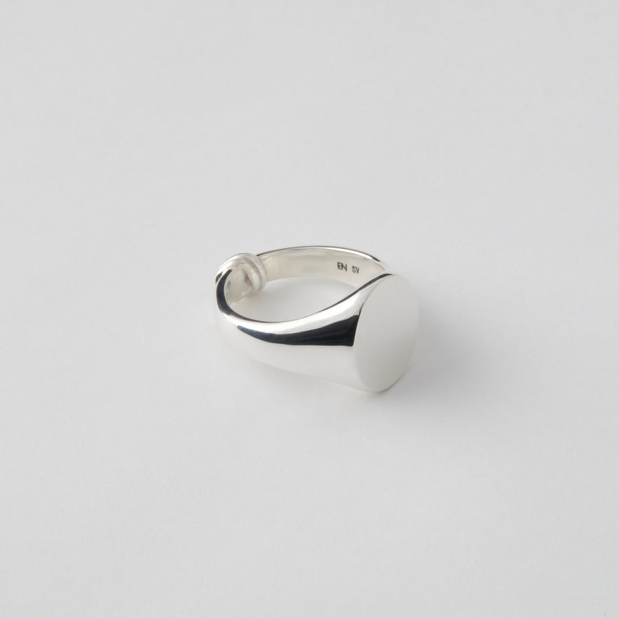 Tied Silver Ring