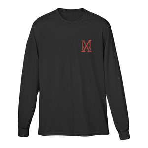 MX Logo passport stamp long sleeve tee-Madonna