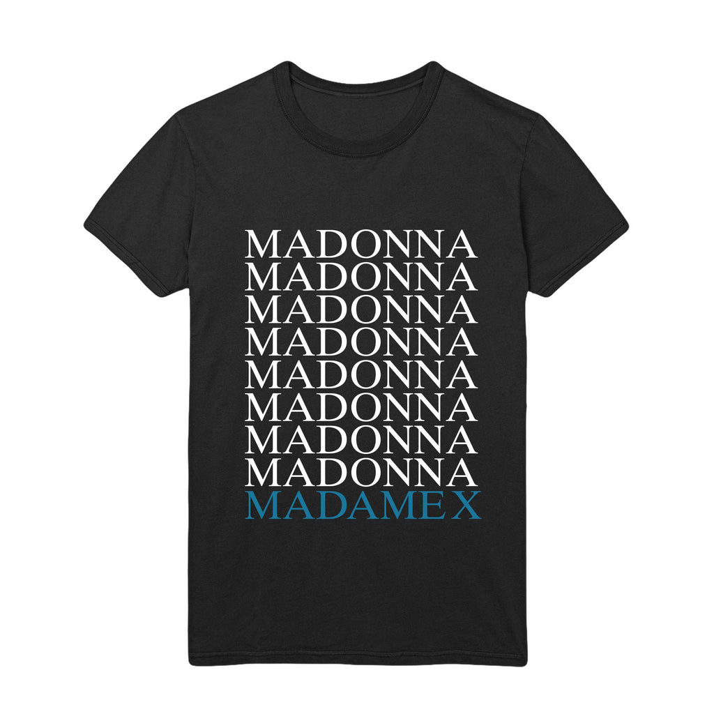 Madonna Madame X logo tee - black & digital album-Madonna