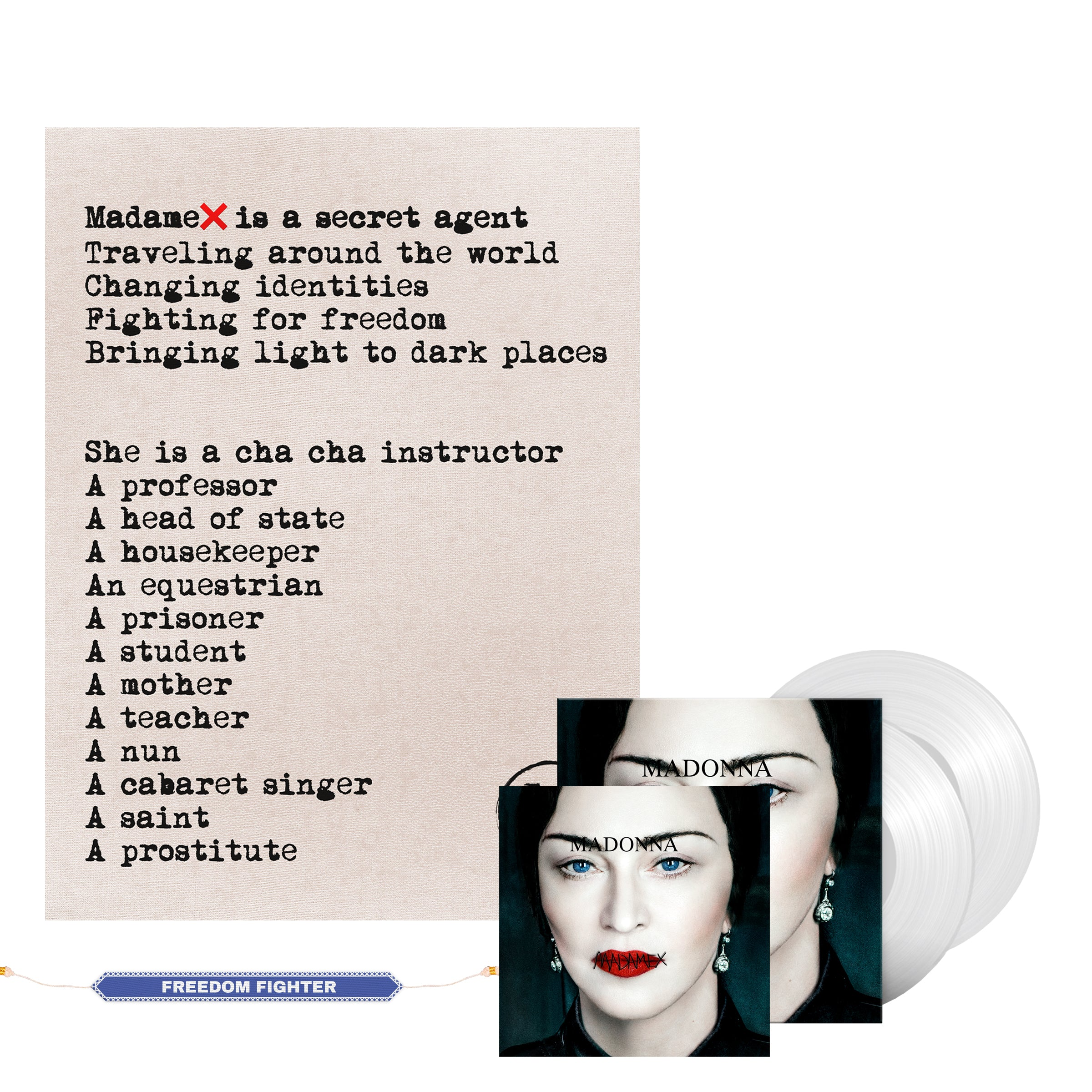Madonna Madame X Web Exclusive Vinyl, CD, Limited Edition Lithograph & Digital Album-Madonna