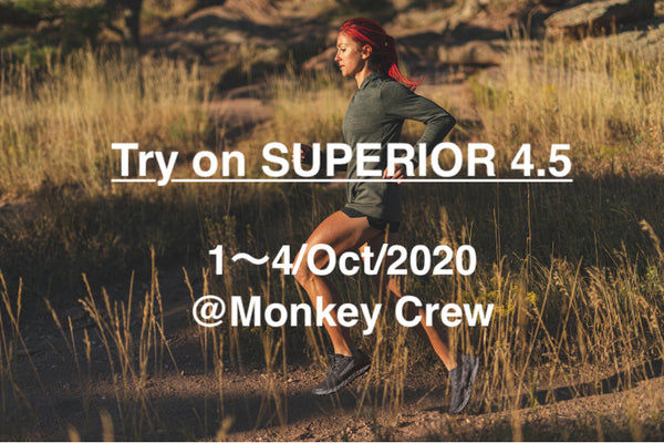 【Event Info】*締切 Try on ALTRA SUPERIOR 4.5