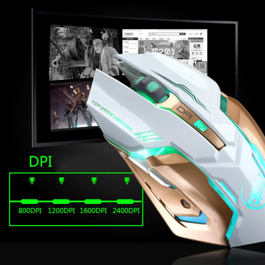 Mouse Sem Fio T1 Wireless Gamer Silencioso LED Retroiluminado