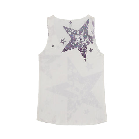 MANY PURPLE STAR IN WHITE