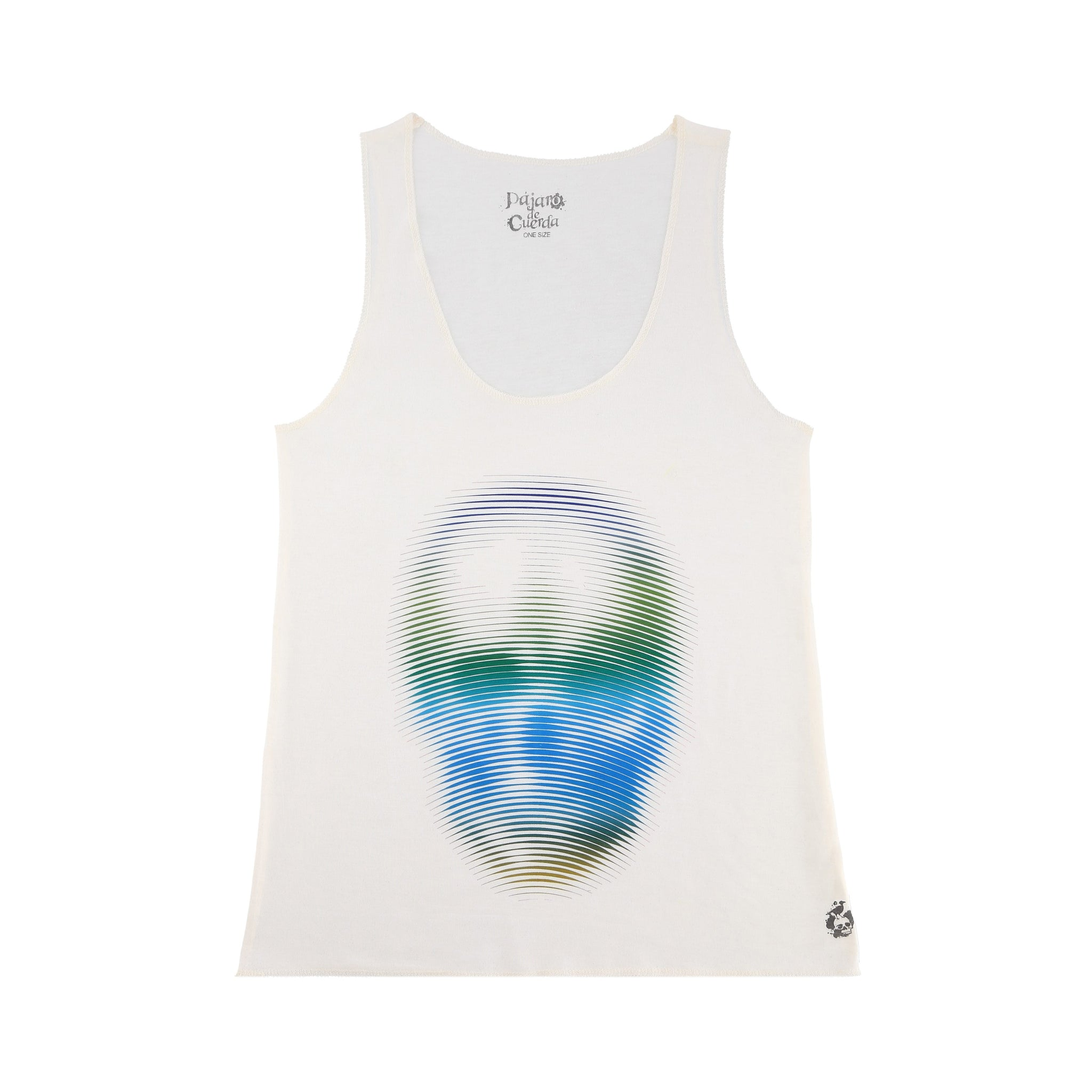 LEMON AND BLUE SKY BLURRY SKULL