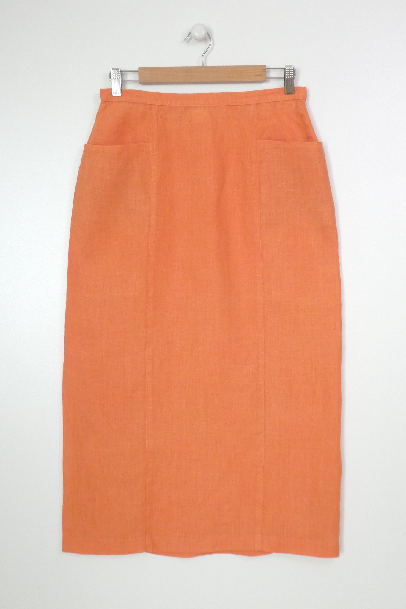 jupe en lin orange vintage