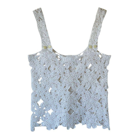 top en crochet fait main vintage