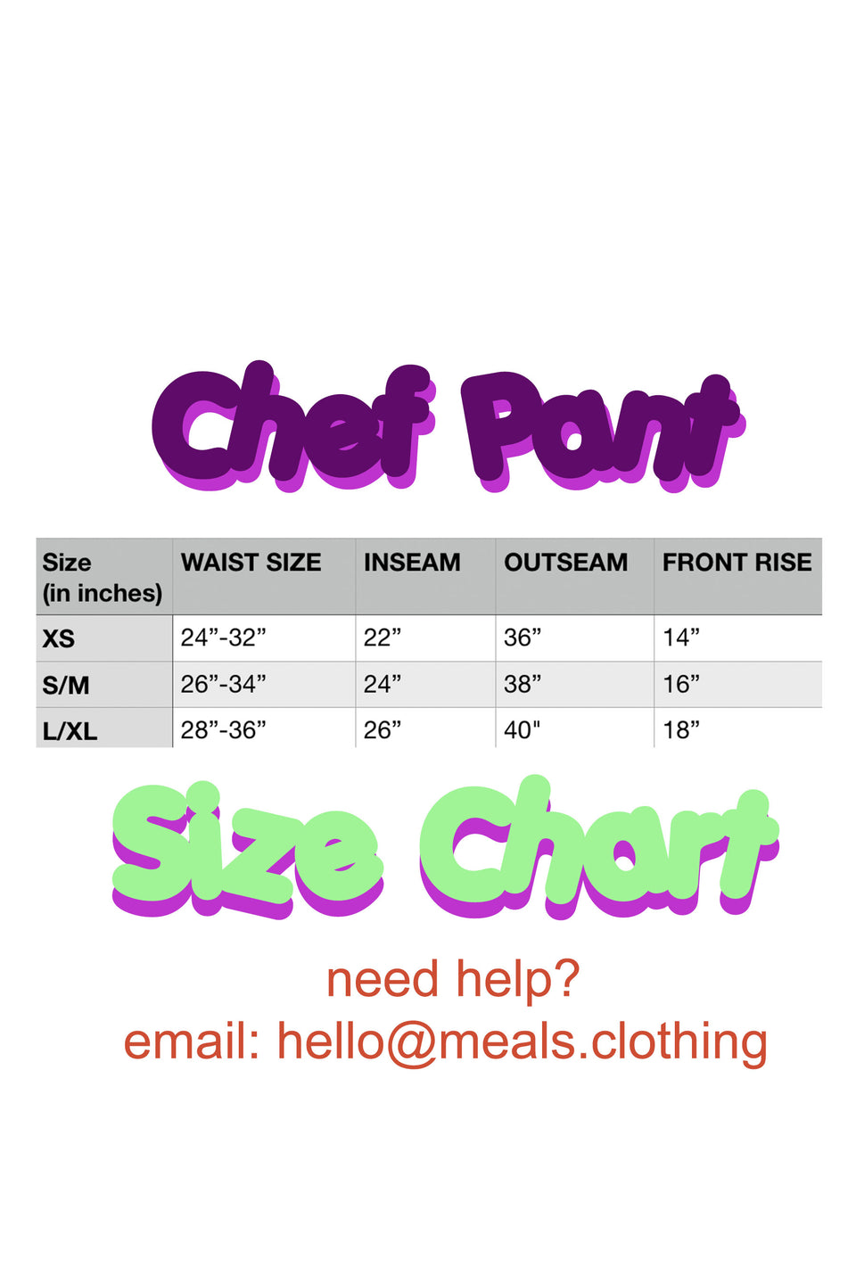Lime Chef Pant Pre-Order