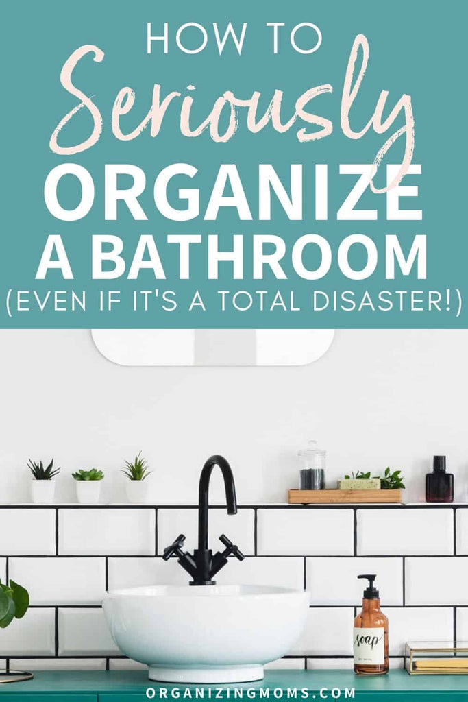 10 bathroom organization ideas to help you get seriously organized! Make your bathroom a calm, organized space with these practical tips.