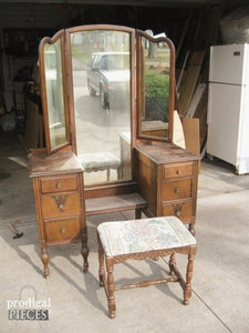 Inspiring Antique Vanity With Mirror