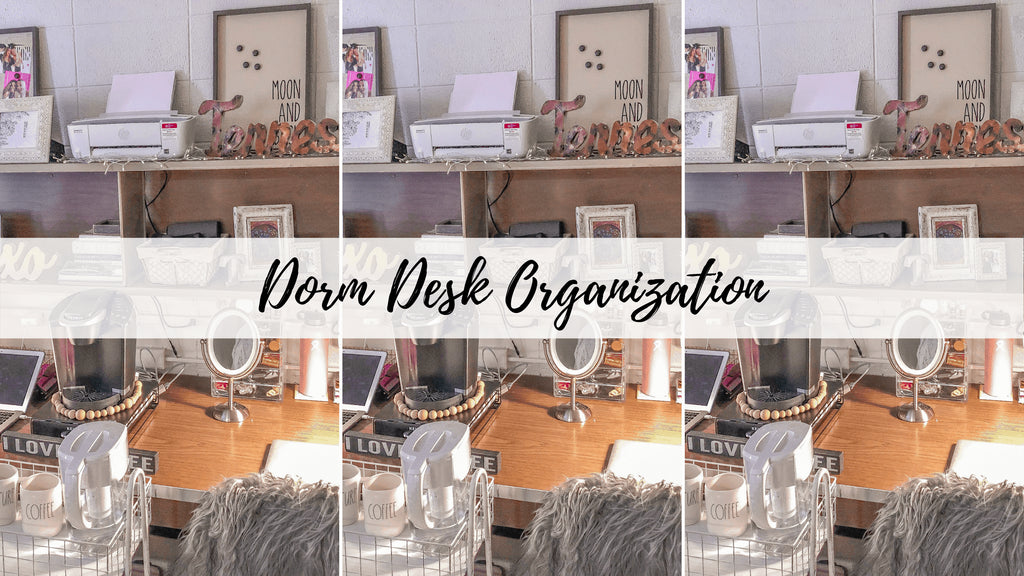 This post is all about dorm desk organization ideas and products.