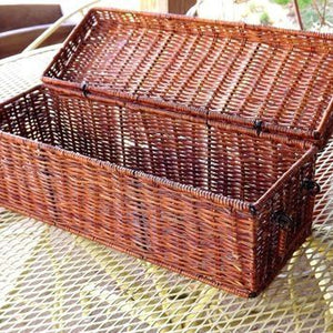 Enjoyable Lidded Wicker Basket