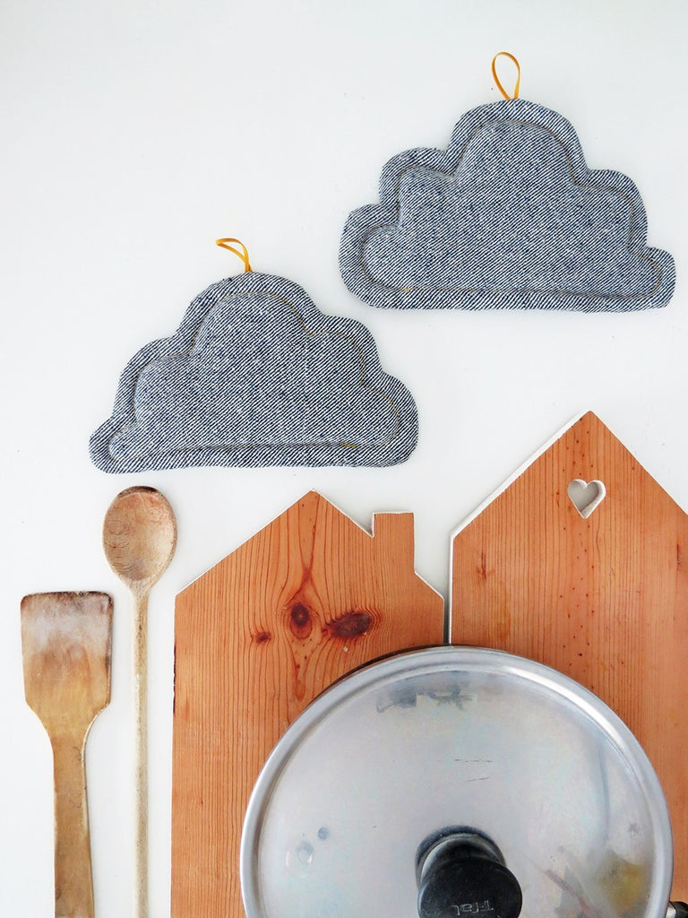 Sewing tutorial: DIY cloud pot holders
