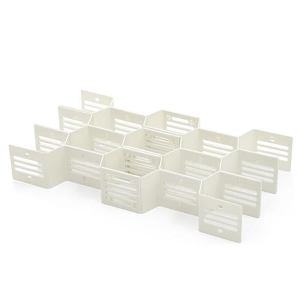 Adjustable Drawer Honeycomb Clapboard Partition Divider Box Separator DIY Grid Storage Organizer (included 12 pieces)