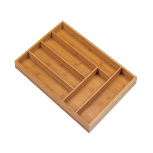 Bamboo Cutlery 6-place Tray Organizer