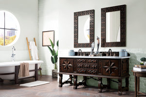 "Balmoral 72"" Double Vanity Cabinet, Antique Walnut"