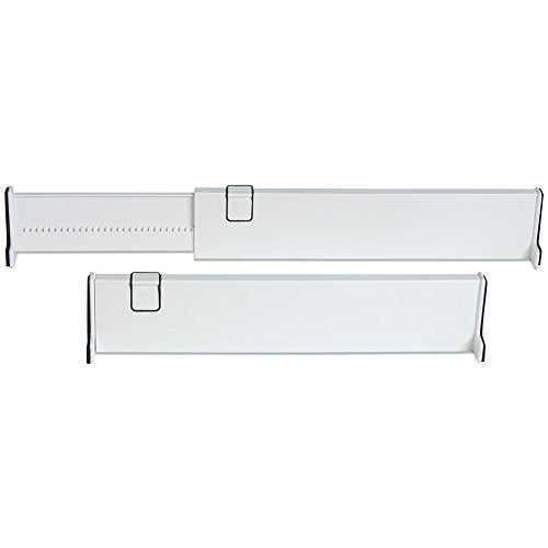 Adjustable Drawer Dividers, Set of 2