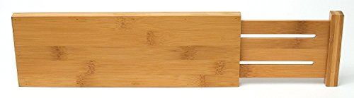 Lipper International 8895 Bamboo Dresser Drawer Dividers, Set of 2 Pack-3