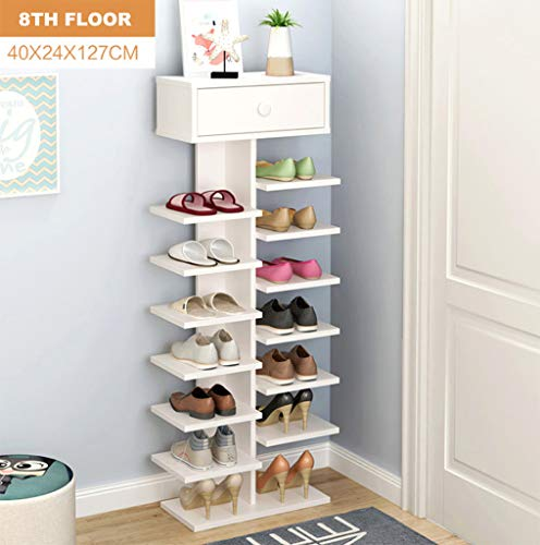HETAO Shoe Rack Double Scarpiera Organizer Wood Furniture Home Shelving Shoes Living Room Shoe Rack Cabinet,8Floor