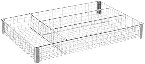 Homz, Metal Mesh, Chrome, 4 Compartments, Fits Most Standard Size Kitchen Drawer Organizer