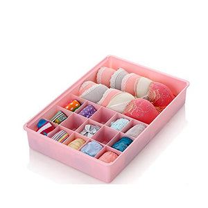 Easy Chois Pink Storage Organizer with 16-Grids for Socks,for Underwear, for Bras, for Tights, for Leggings #9
