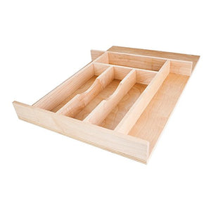 Hardware Resources DO14 Drawer Organizer and Cutlery Tray, Maple