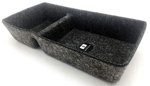 Welaxy Felt Office Drawer Organizer bin 2 Divided Storage bin (Charcoal)