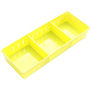 Drawer Storage Drawers Plastic Drawer Trays with Dividers for Stationery/Makeup/Cutlery(Yellow, 11.8×2.9×1.9inch)