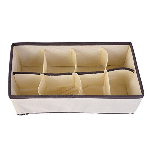 Collocation-Online Organizers Boxes For Underwear Bra Scarfs Socks Bra Storage Box Drawer Closet Home Storage,8 grids
