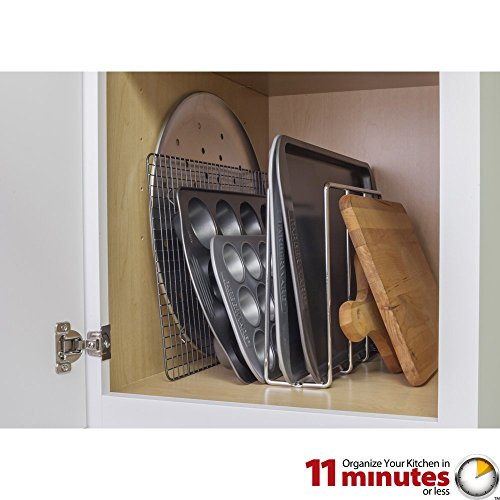 Cabinet Components/Dividers Vertical U-Shaped Tray Divider and Organizer - Polished Chrome