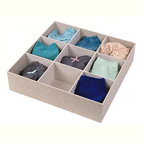 Richards Homewares 9 Compartment Sock Drawer Organizer