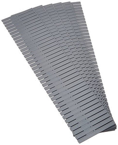 Compactor Free Drawer Dividers, Set of 6, Polypropylene, Grey, 44.0 x 0.1 x 10.0 cm