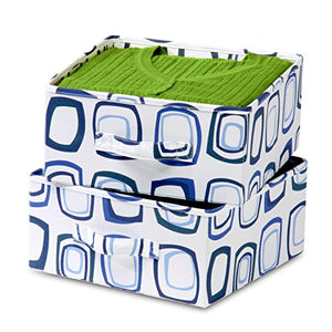 Honey-Can-Do SFT-01562 Accessory Drawers for Hanging Organizer, Blue/White