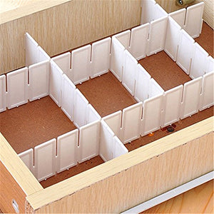 starlit 6 Pcs DIY Grid Drawer Divider Panel Household Storage Organizer Partition