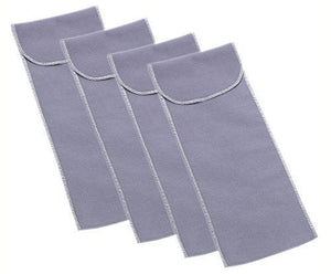 "4-Pack, Reed & Barton 4"" x 12"" Pouch For Silverware / Flatware Serving Pieces"