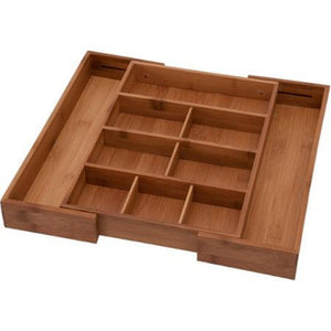 Bamboo Expandable Utensil Tray Drawer Organizer