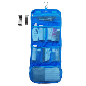 Cosmetics Makeup Toiletry and Grooming Travel Bags-Over the Door Hanging Folding Organizer with Free Bonus Hooks-Essential Waterproof Accessory for Home or Luggage-Eco Friendly Materials