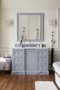 "De Soto 48"", James Martin Silver Grey Bathroom Vanity"