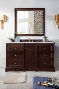 "De Soto 60"", James Martin Burnished Mahogany Bathroom Vanity"