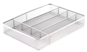 KD Organizers 5-Slot Mesh Drawer Organizer: Perfect desk drawer dividers for office supplies, kitchen silverware or cutlery tray, or bathroom accessories holder!
