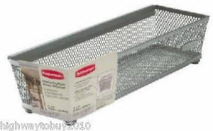 "(24) Rubbermaid 1F77-00 TITNM 3"" x 9"" Metal Mesh Drawer Organizer Bins"