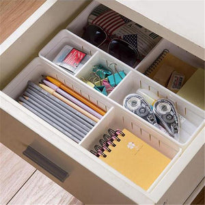 Adjustable Plastic Drawer Organizer and Storage Box
