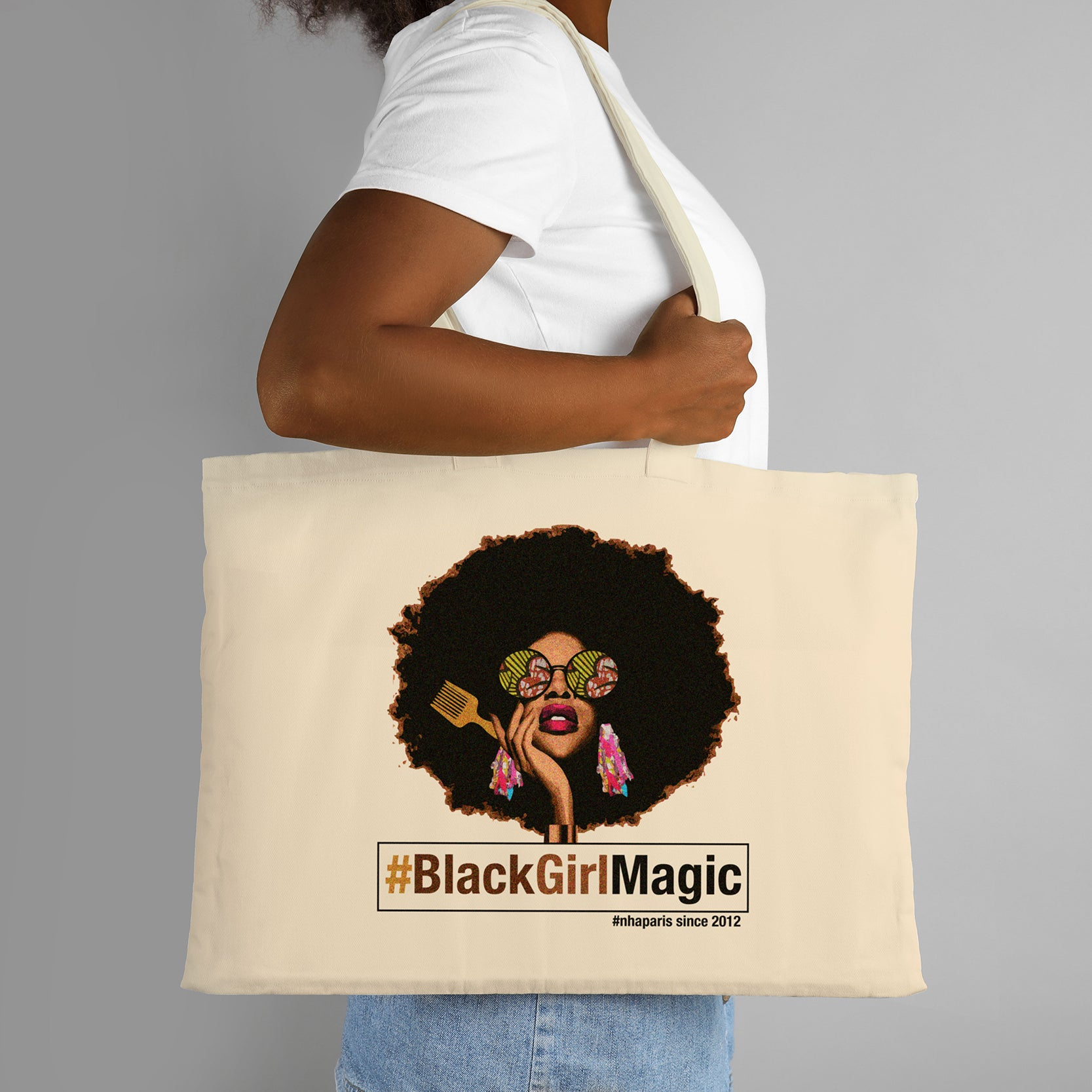 Maxi Tote Bag #BlackGirlMagic