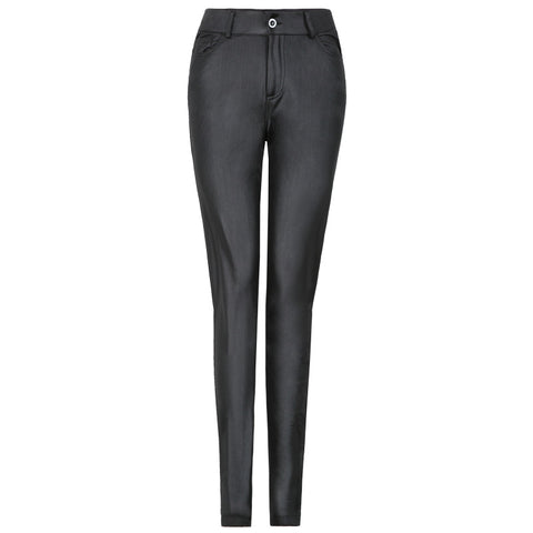 Extra-Stretchy PU Leather Legging Pants