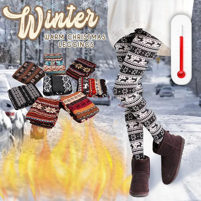Winter Warm Christmas Leggings